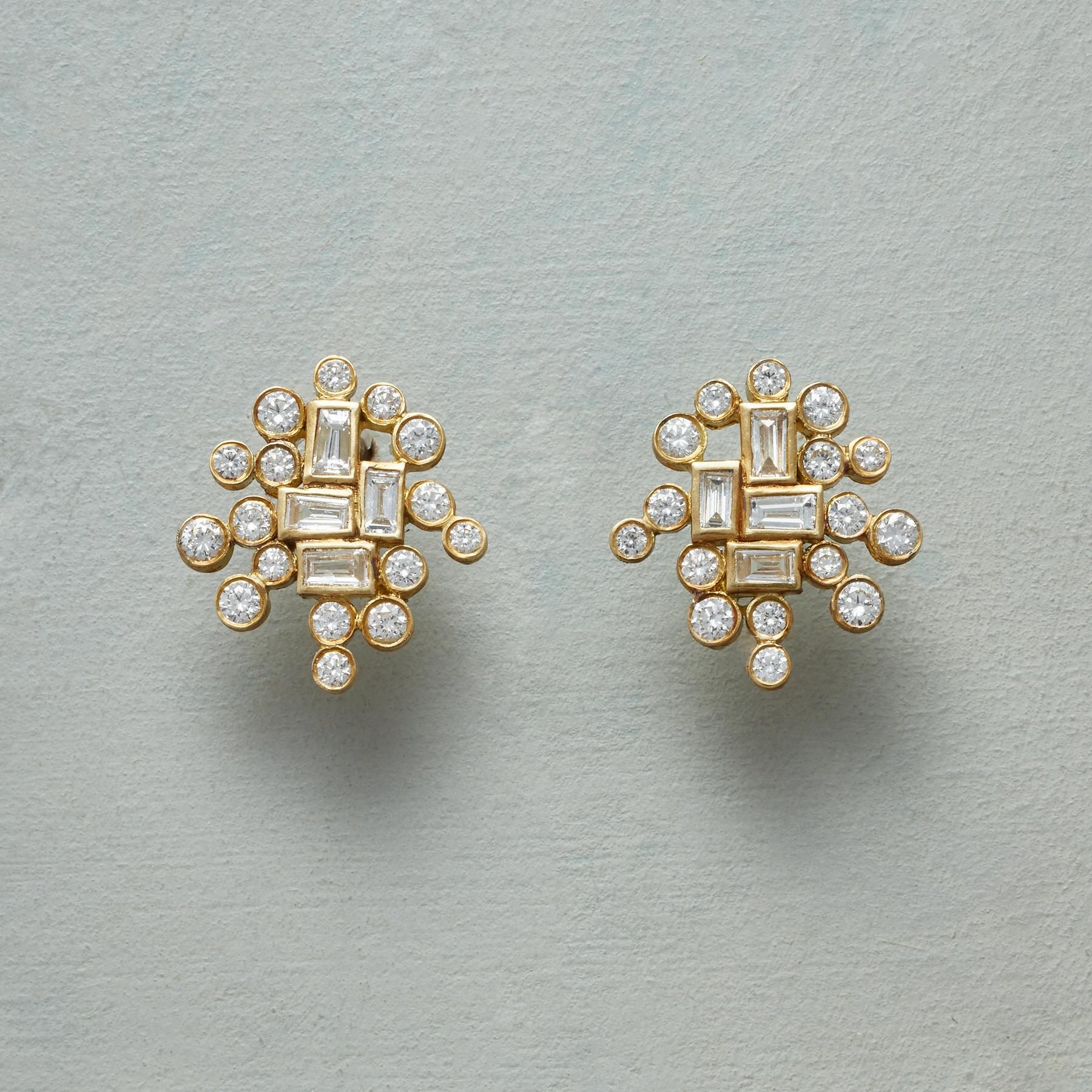 DIAMOND ADAIRE EARRINGS: View 1