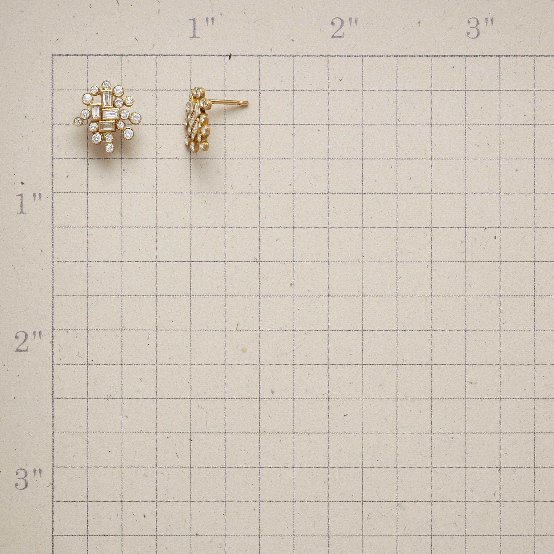 DIAMOND ADAIRE EARRINGS: View 2