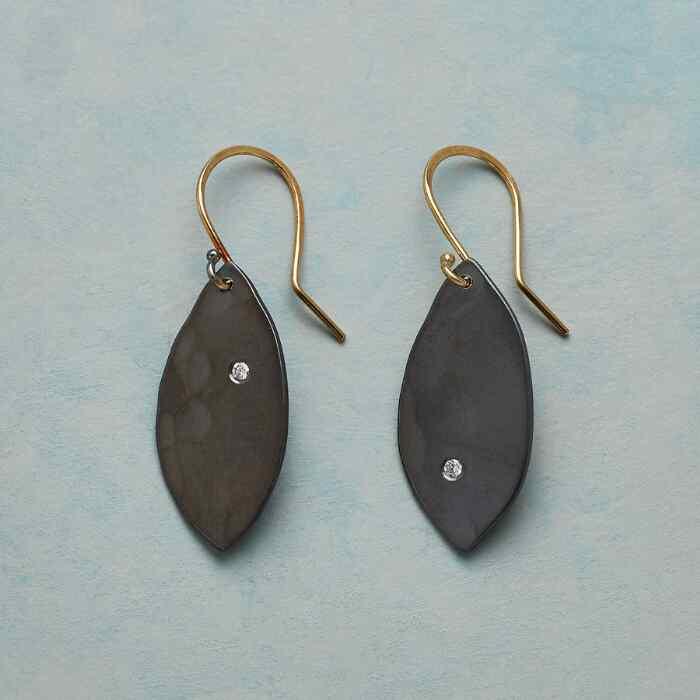DIAMOND FLUTTER LEAF EARRINGS