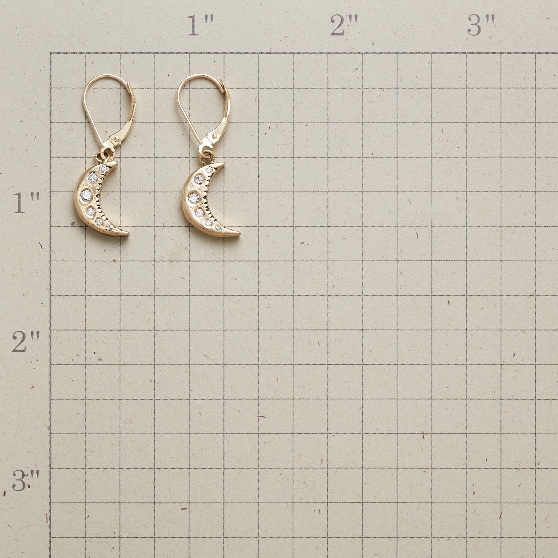 MOONLIT DIAMOND EARRINGS: View 2