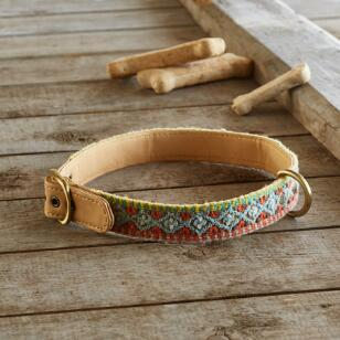 HANDMADE DOG COLLAR - GEOMETRIC