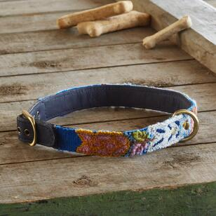 HANDMADE DOG COLLAR - FOLKLORIC