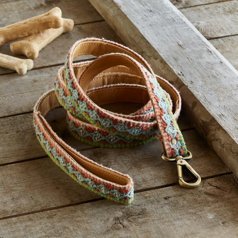HANDMADE DOG LEASH - GEOMETRIC