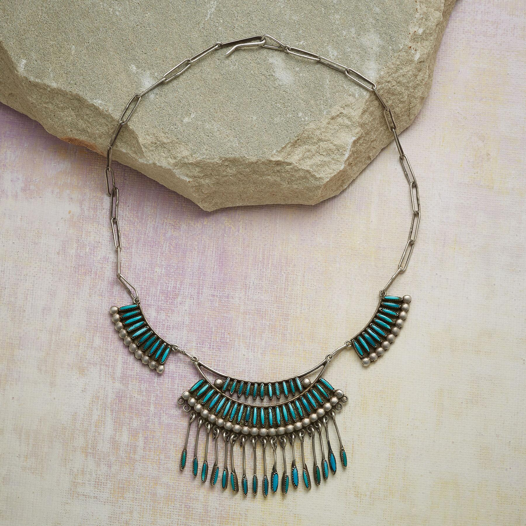 1940'S ZUNI TURQUOISE NECKLACE: View 2