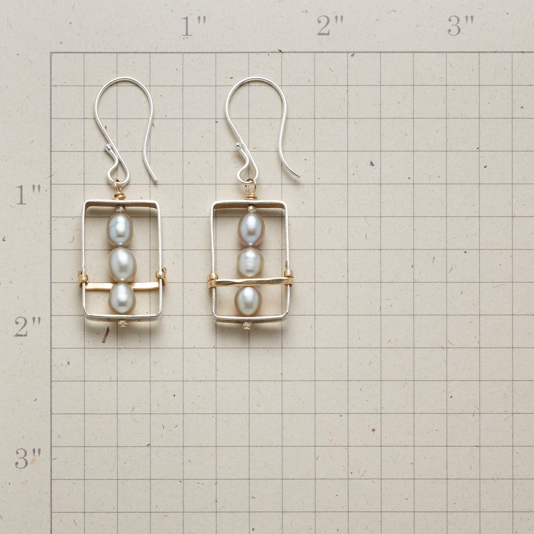 FRAMED PEARL EARRINGS: View 2
