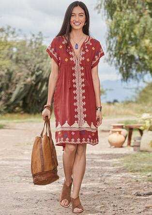 SACRED VALLEY DRESS - PETITES