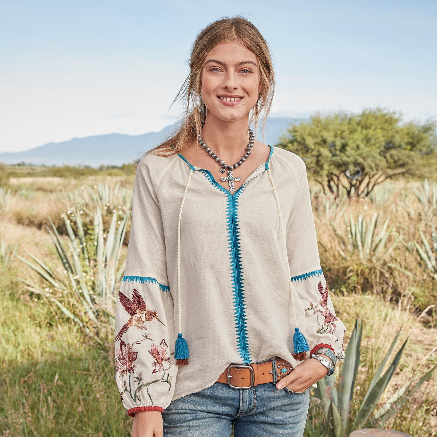 PALOMA EMBROIDERED TOP: View 1