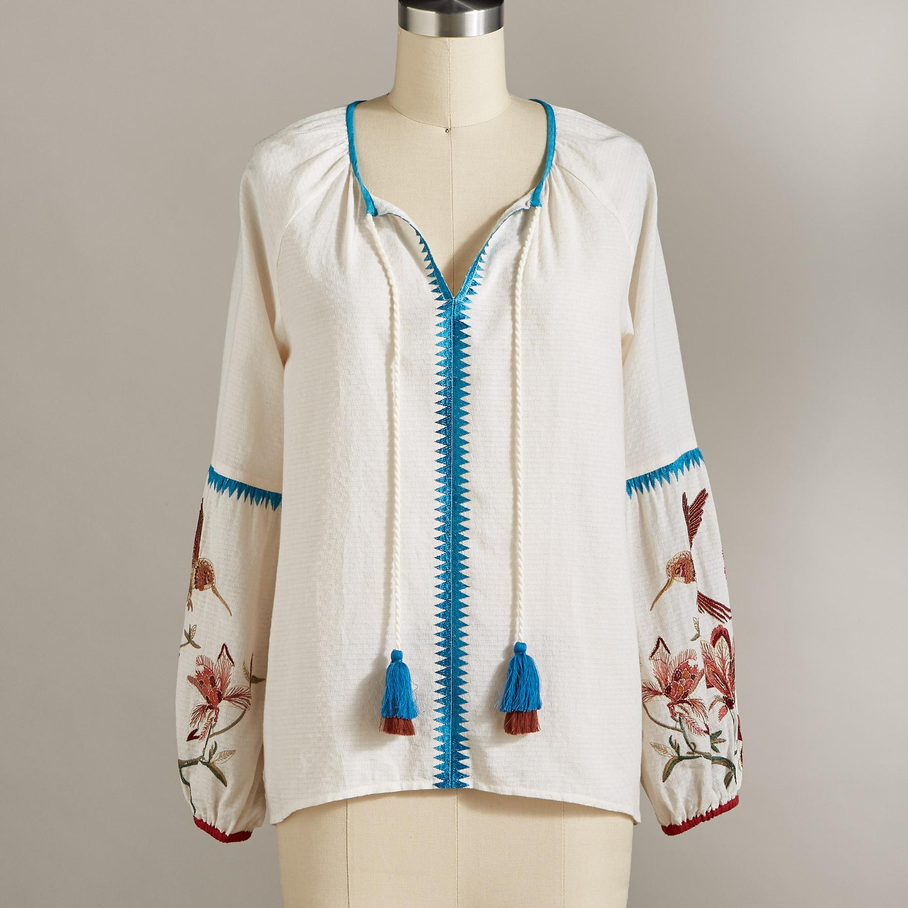 PALOMA EMBROIDERED TOP: View 3