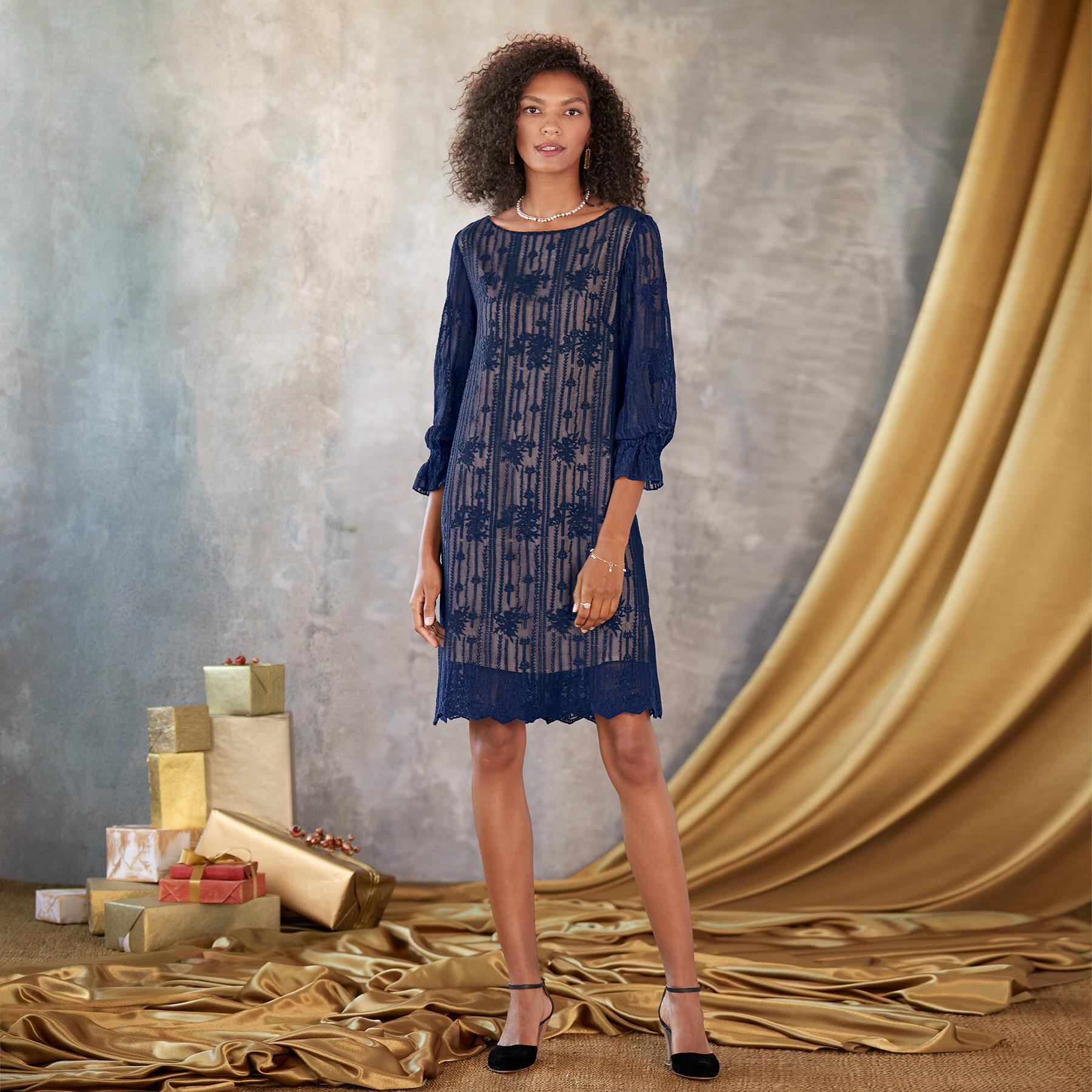 EMMA GRACEFUL SHEATH DRESS - PETITES: View 1