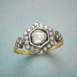 DIAMOND HEXAGON RING