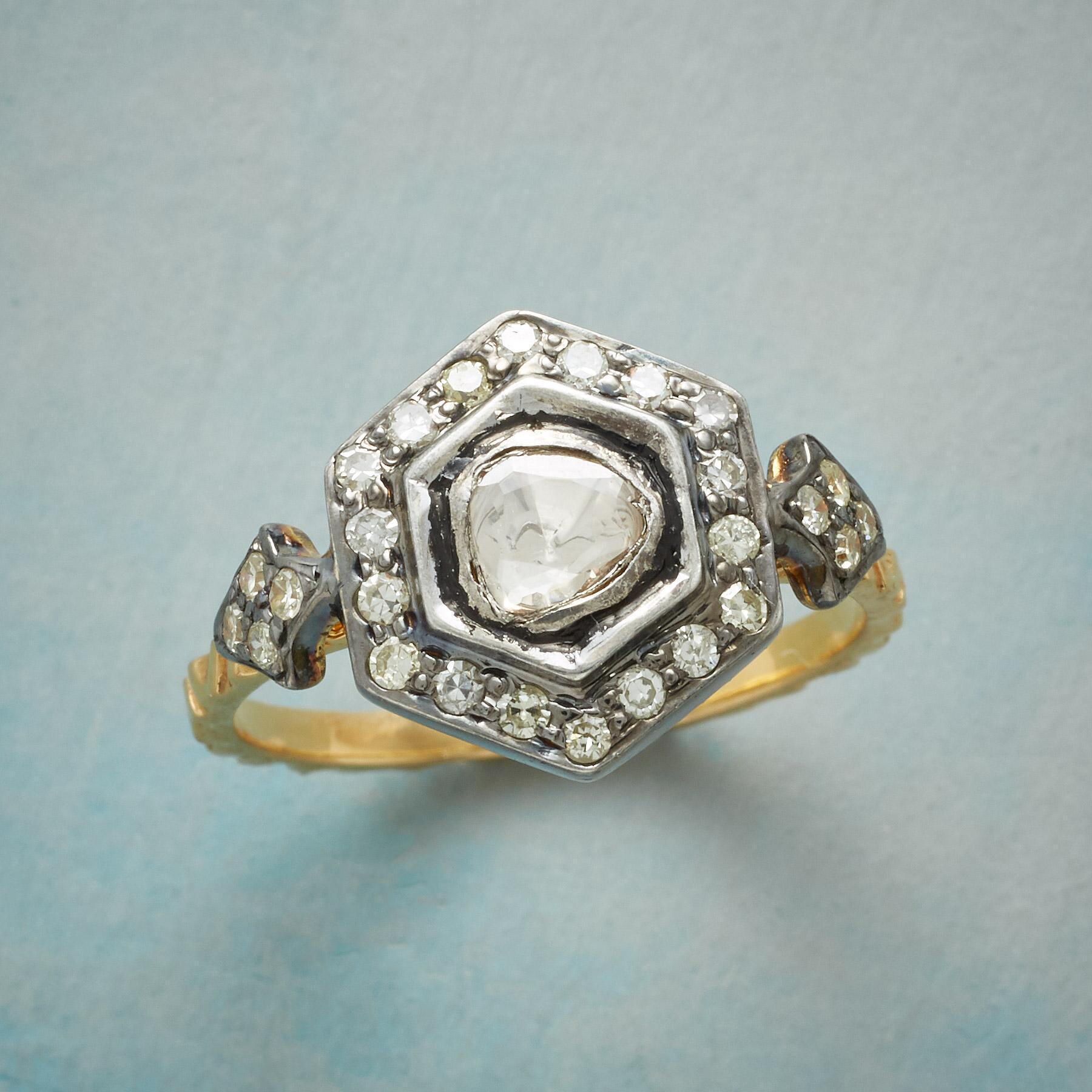 DIAMOND HEXAGON RING: View 1
