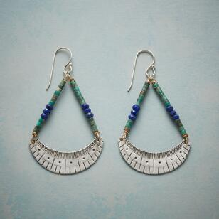 STAMPED CRESCENT EARRINGS