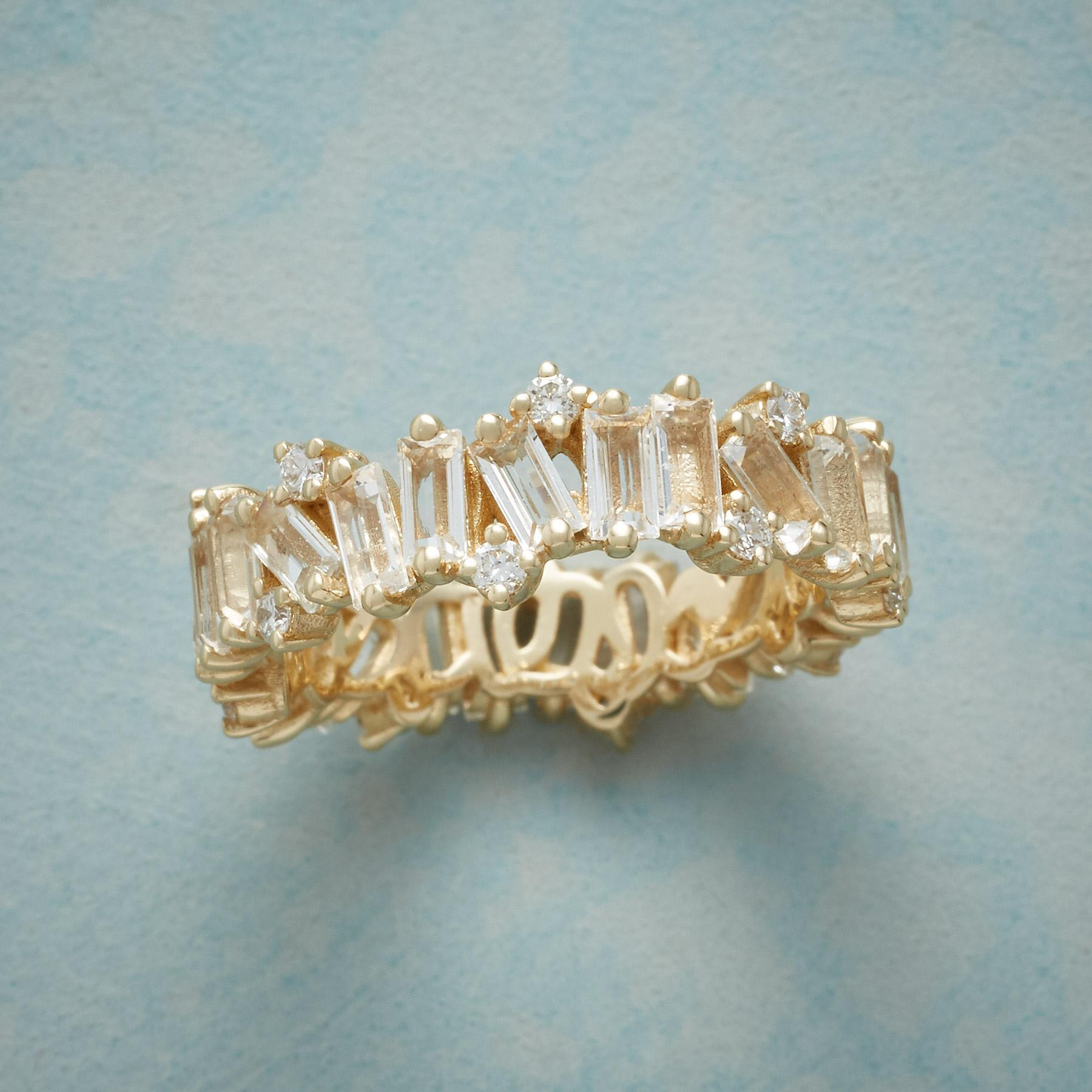 WHITE TOPAZ & DIAMONDS RING: View 1