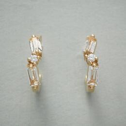 TOPAZ & DIAMOND HOOP EARRINGS