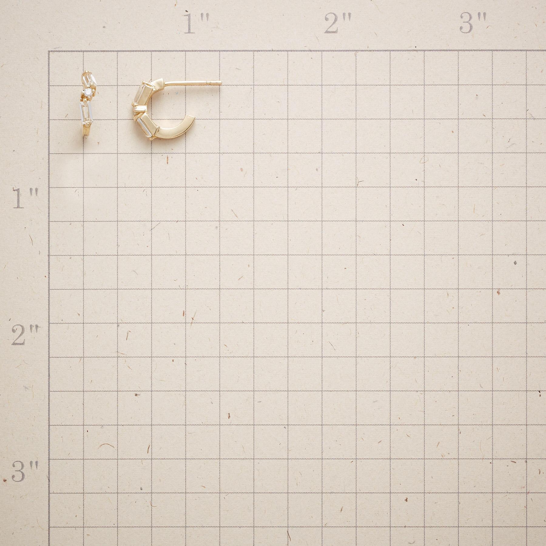 TOPAZ & DIAMOND HOOP EARRINGS: View 2