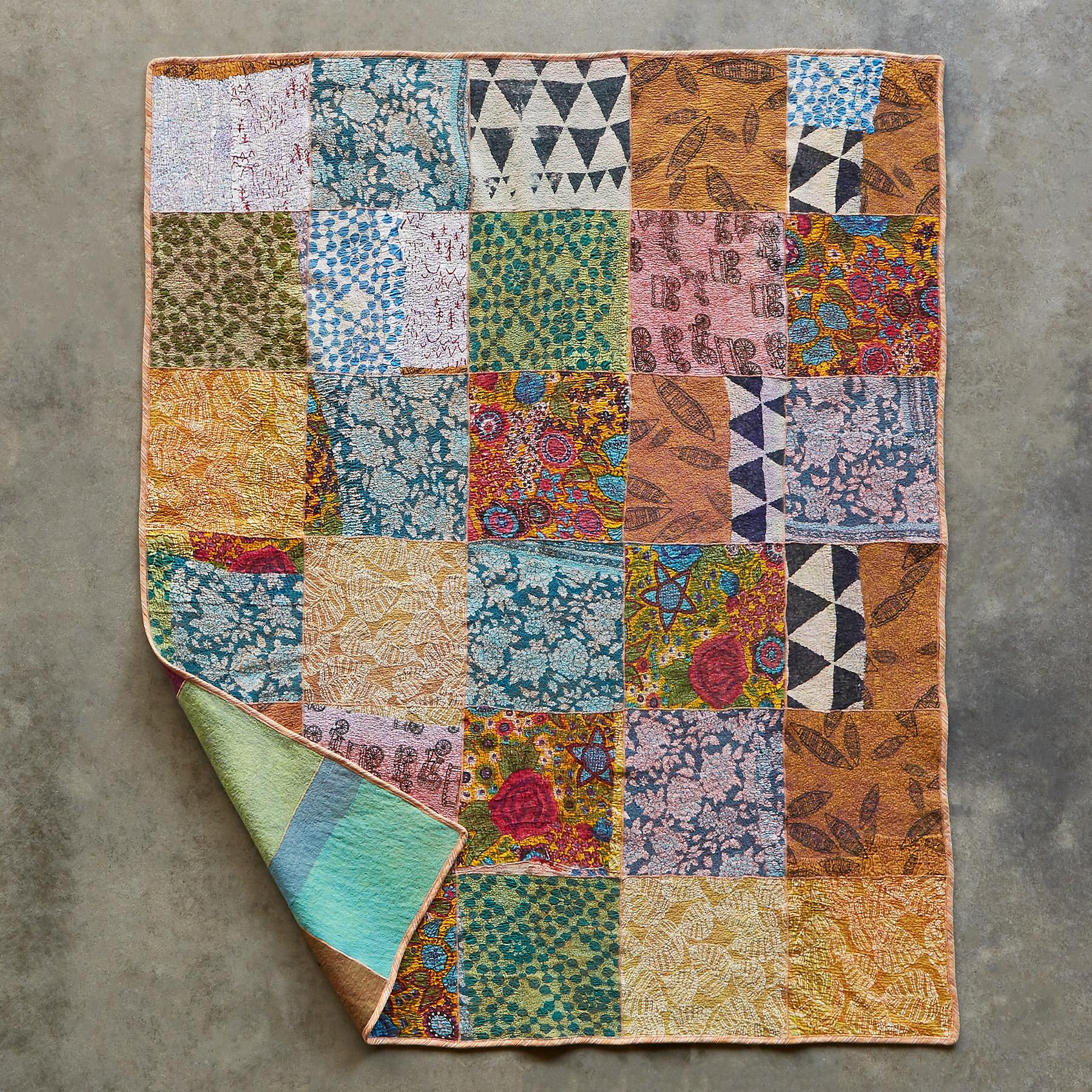 WHIMSY PATCHWORK THROW: View 2
