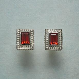 GARNET PICTURE EARRINGS