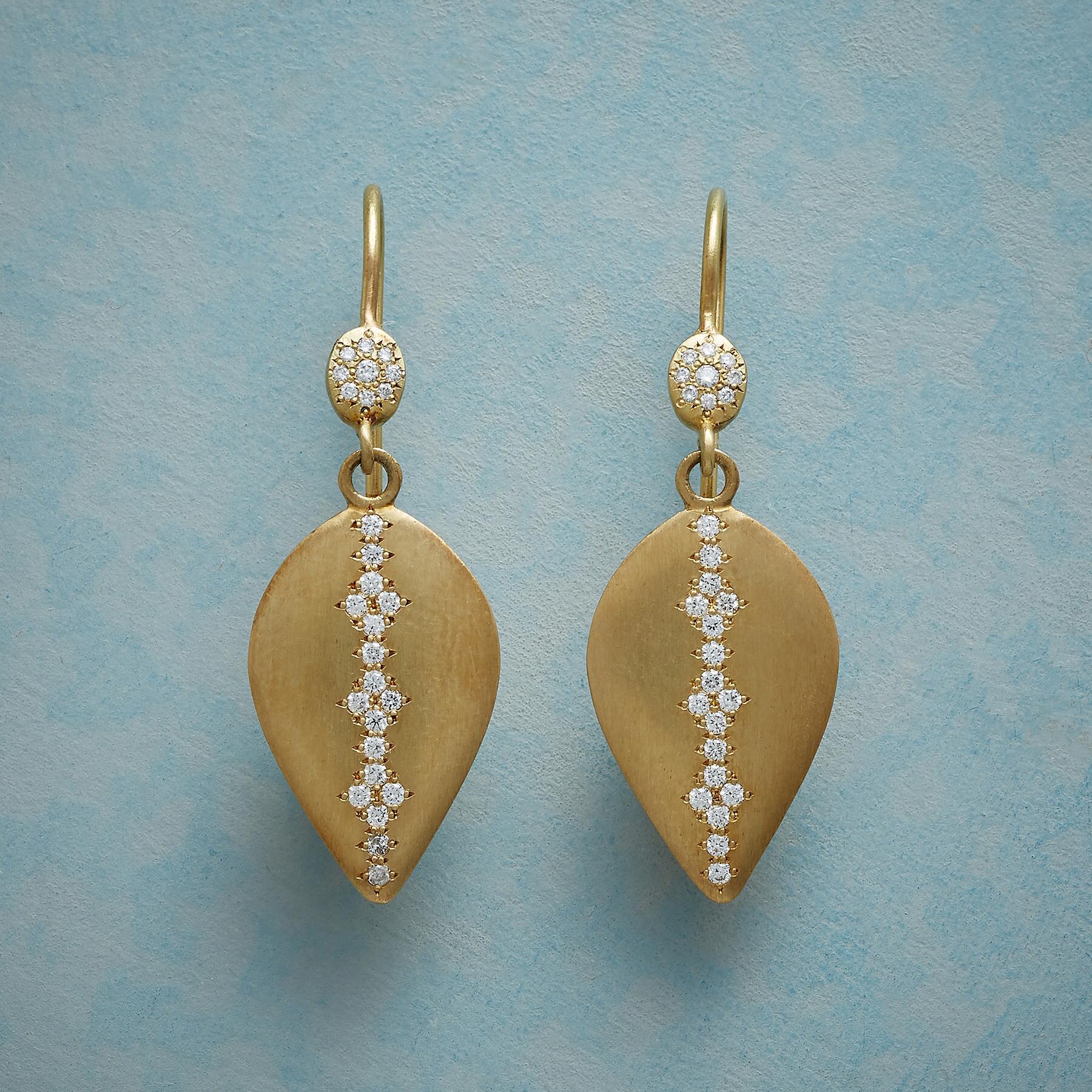 DIAMOND DROPLET EARRINGS: View 1