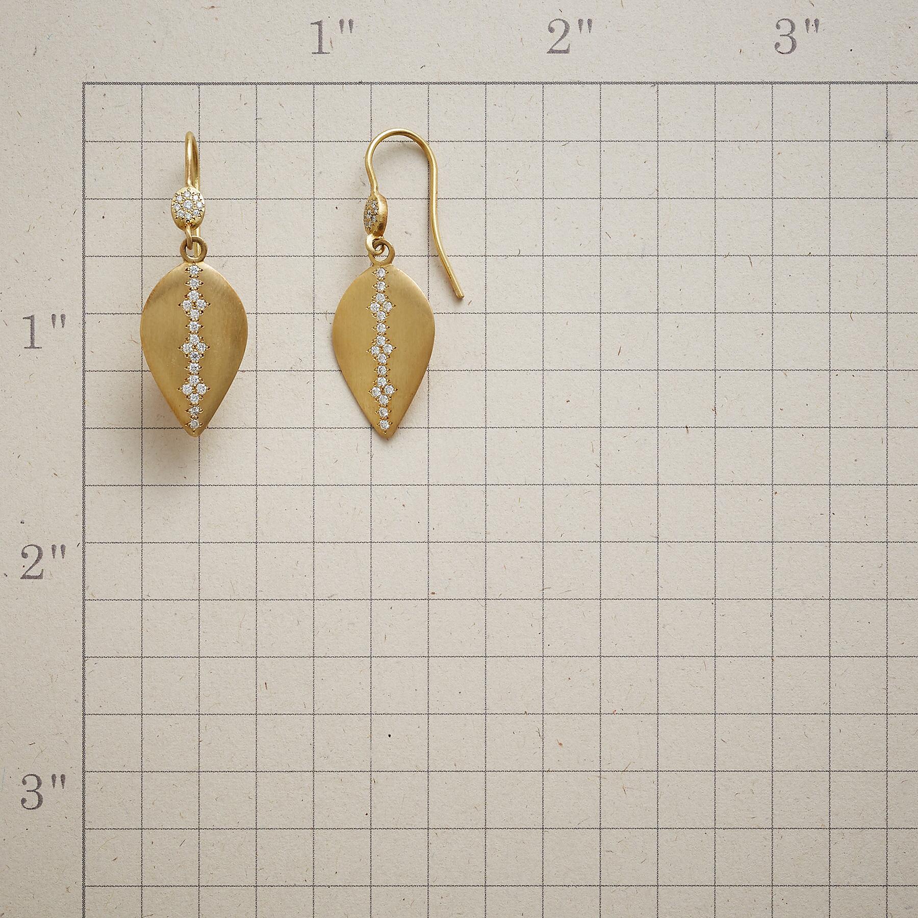DIAMOND DROPLET EARRINGS: View 2