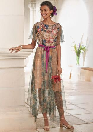 BIJOU EMBROIDERED DRESS