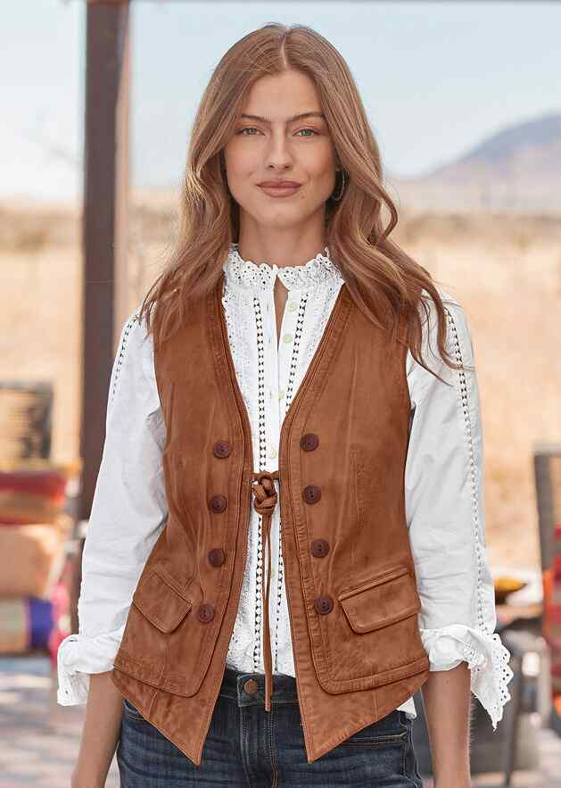 LORENA LEATHER VEST