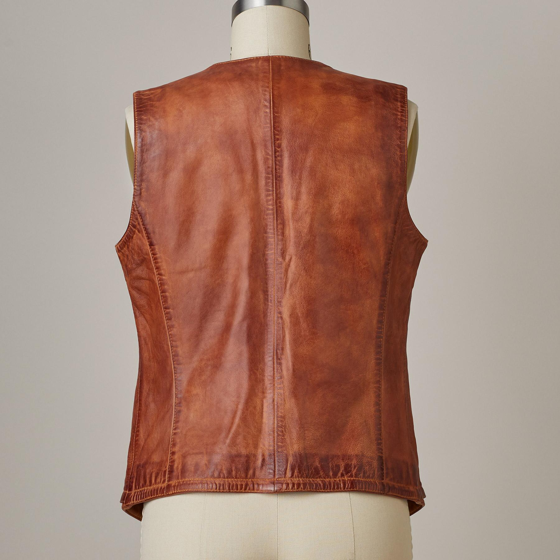LORENA LEATHER VEST: View 3