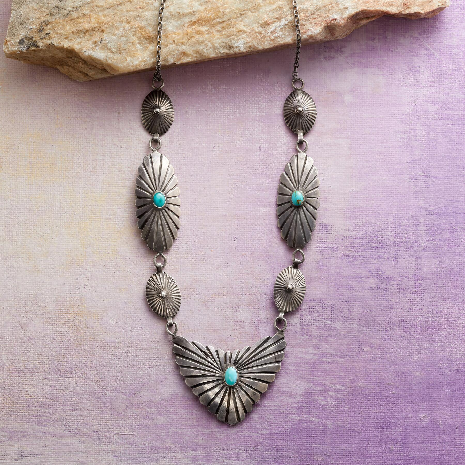 1960S LINKED CONCHO NECKLACE: View 1