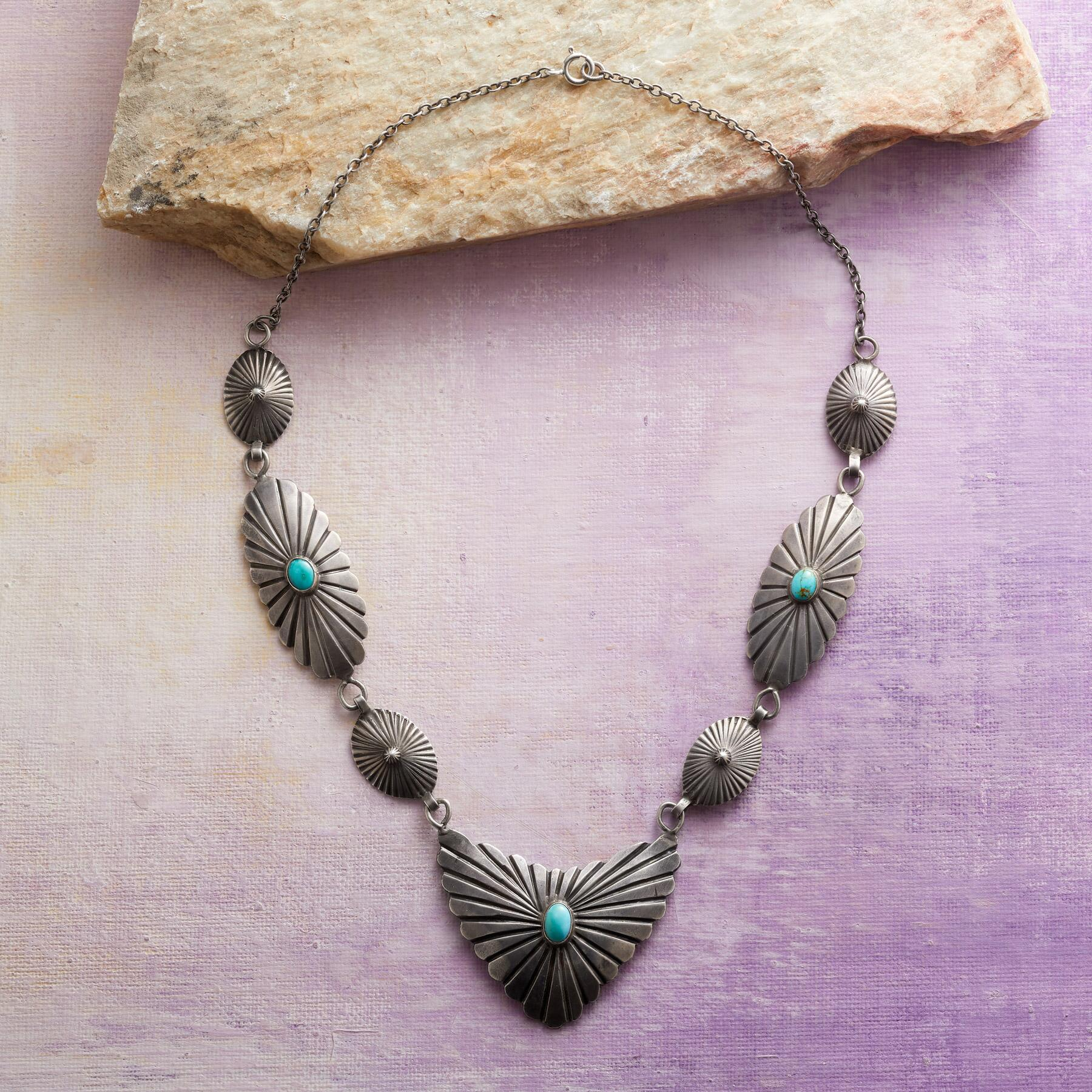 1960S LINKED CONCHO NECKLACE: View 2