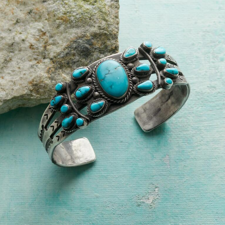 1940S LONE MOUNTAIN TURQUOISE CUFF