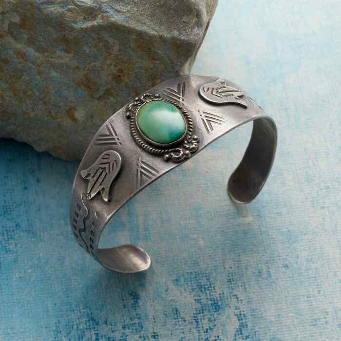 1950S TURQUOISE GALLERY CUFF