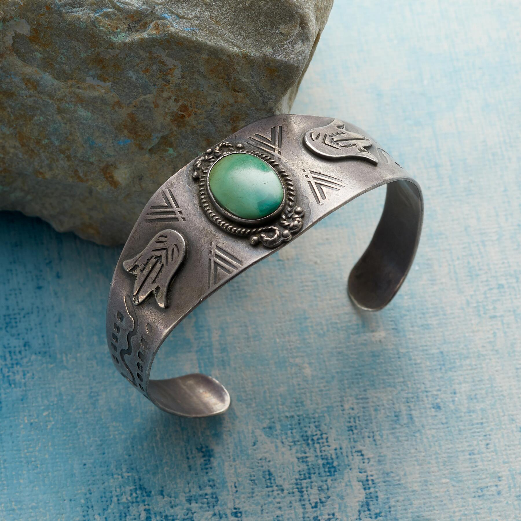 1950S TURQUOISE GALLERY CUFF: View 1