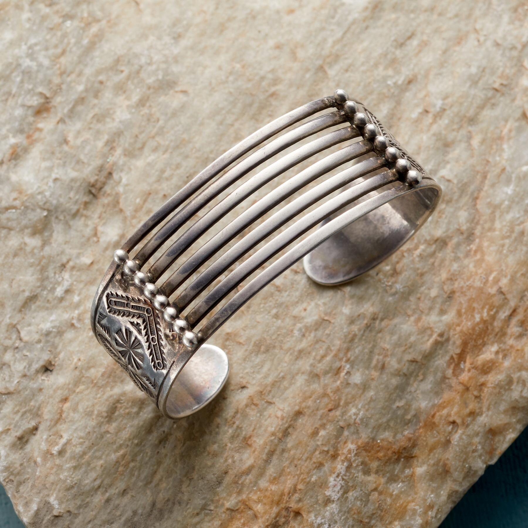 1920S STERLING CUFF: View 1