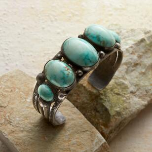 1940S FIVE ROYSTON TURQUOISE CUFF