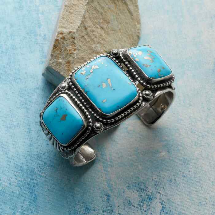 JOE EBY TURQUOISE SQUARES CUFF