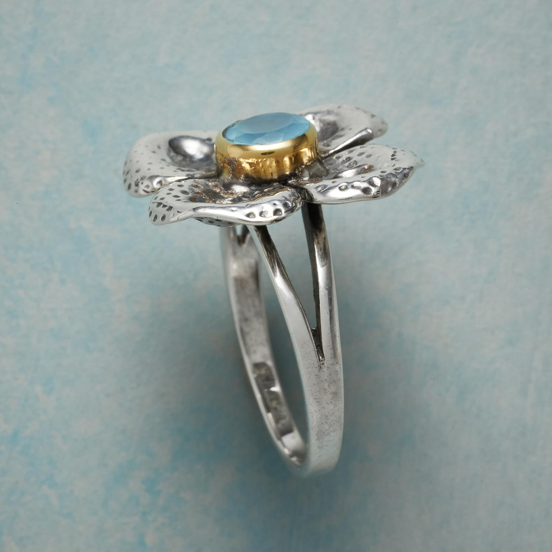 CHALCEDONY CLOVER RING: View 2
