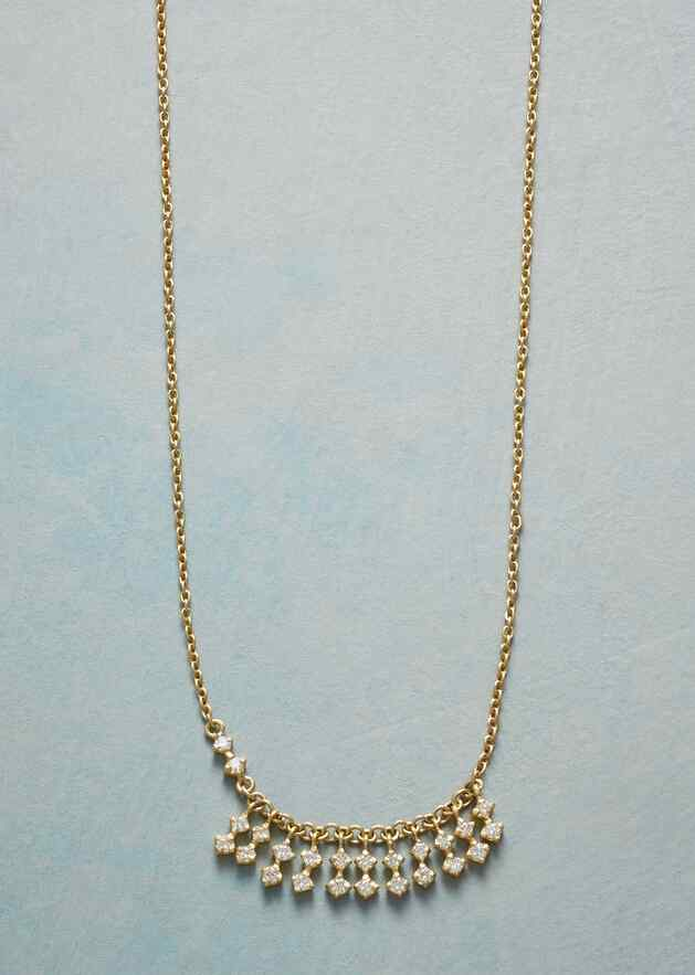 FRINGE OF DIAMONDS NECKLACE