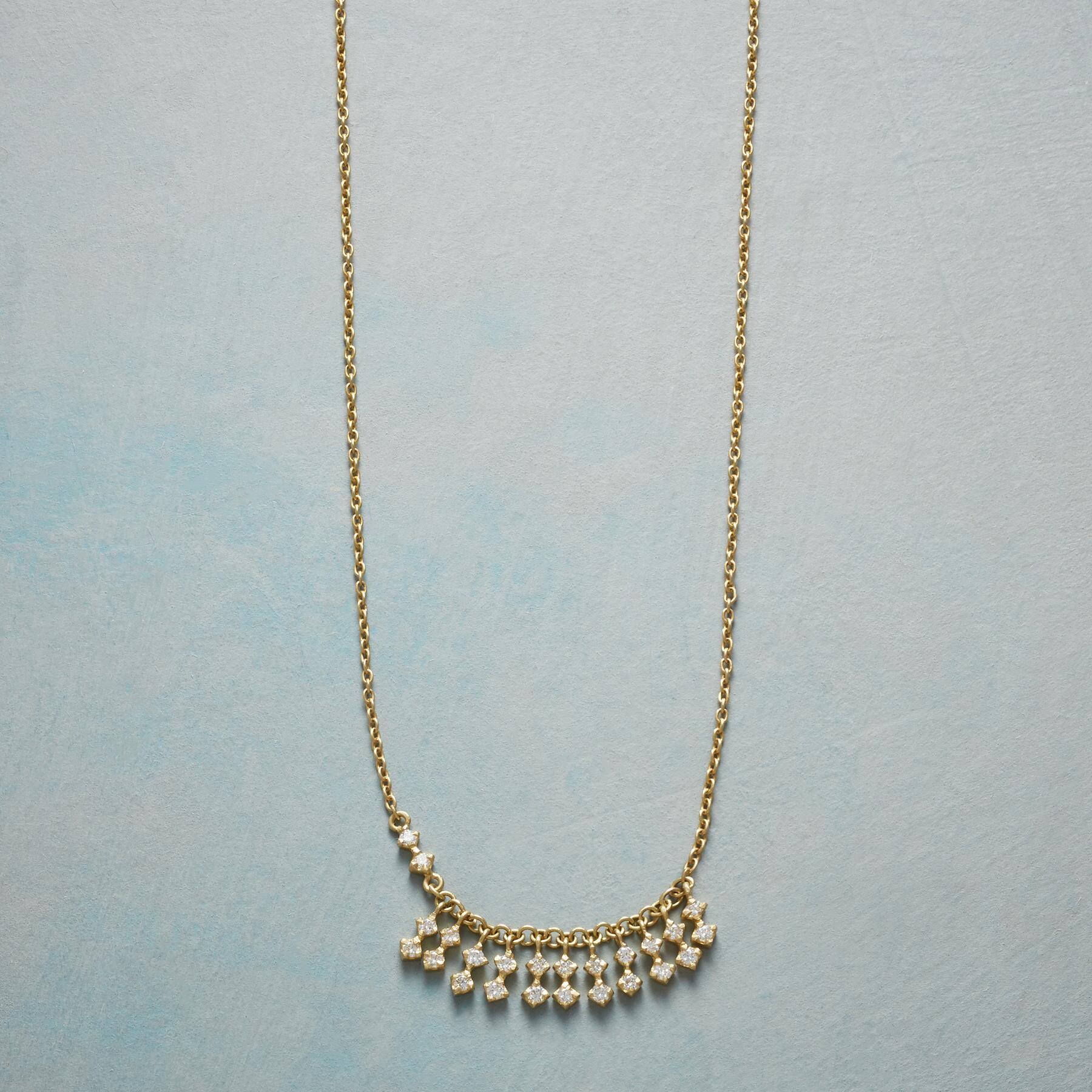 FRINGE OF DIAMONDS NECKLACE: View 1