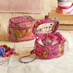 KANTHA STITCHERY JEWELRY CASE