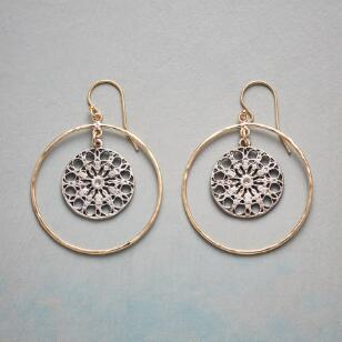 MANDALA CHARM EARRINGS