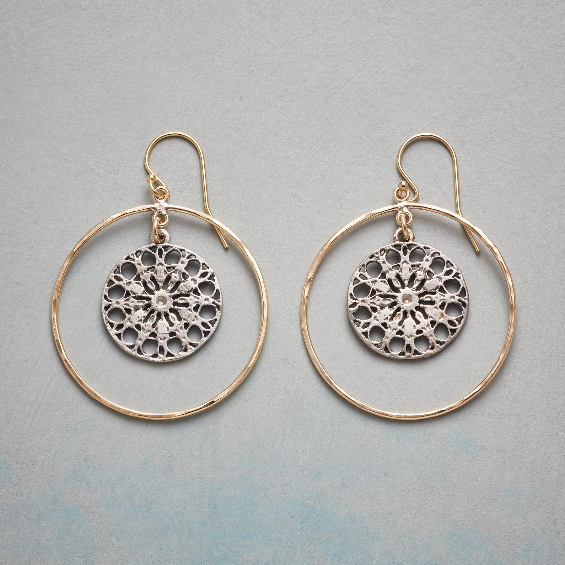 MANDALA CHARM EARRINGS: View 1