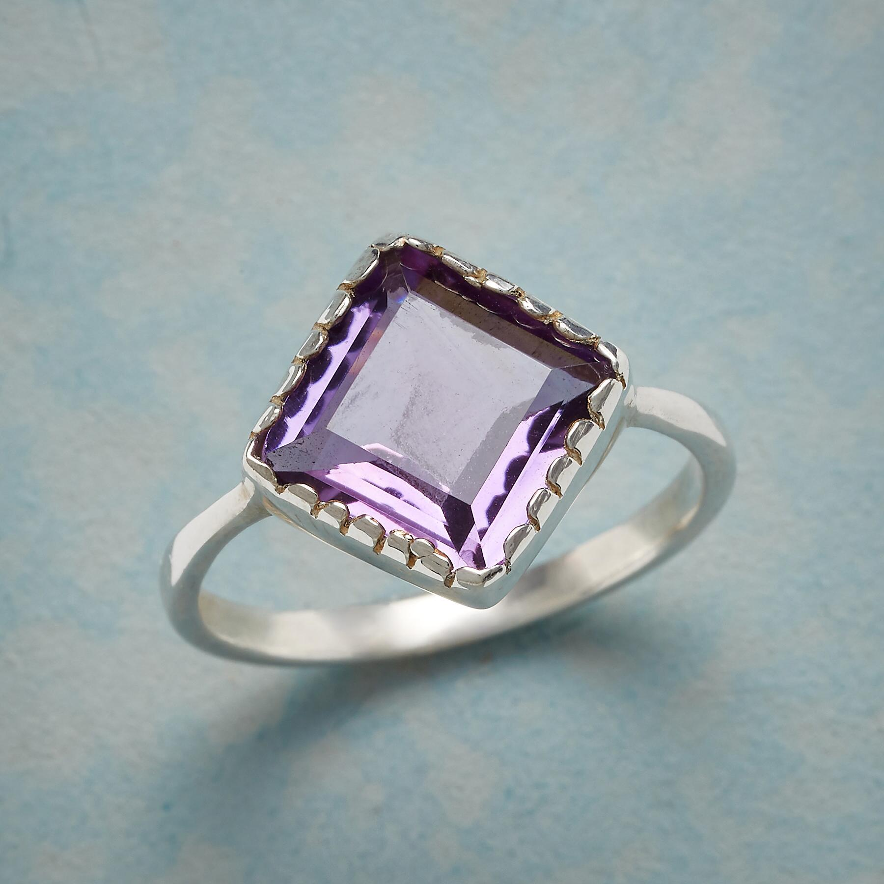 ANGLED AMETHYST RING: View 1