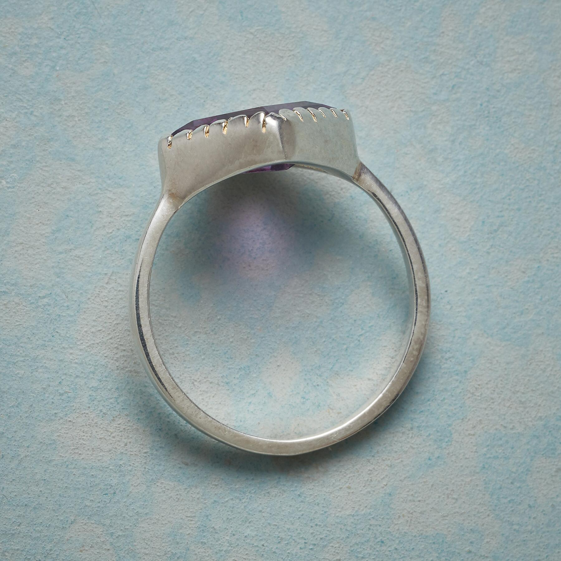ANGLED AMETHYST RING: View 2
