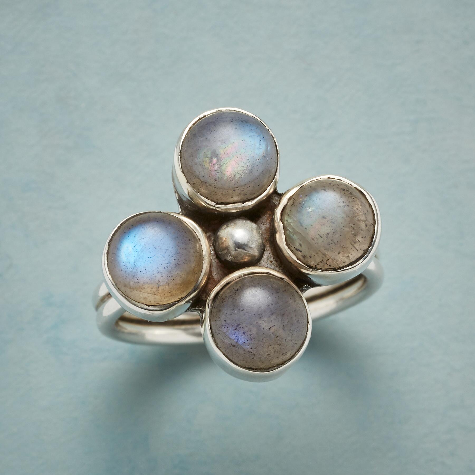GOOD LUCK LABRADORITE RING: View 1