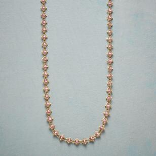 WOVEN PINK TOPAZ NECKLACE