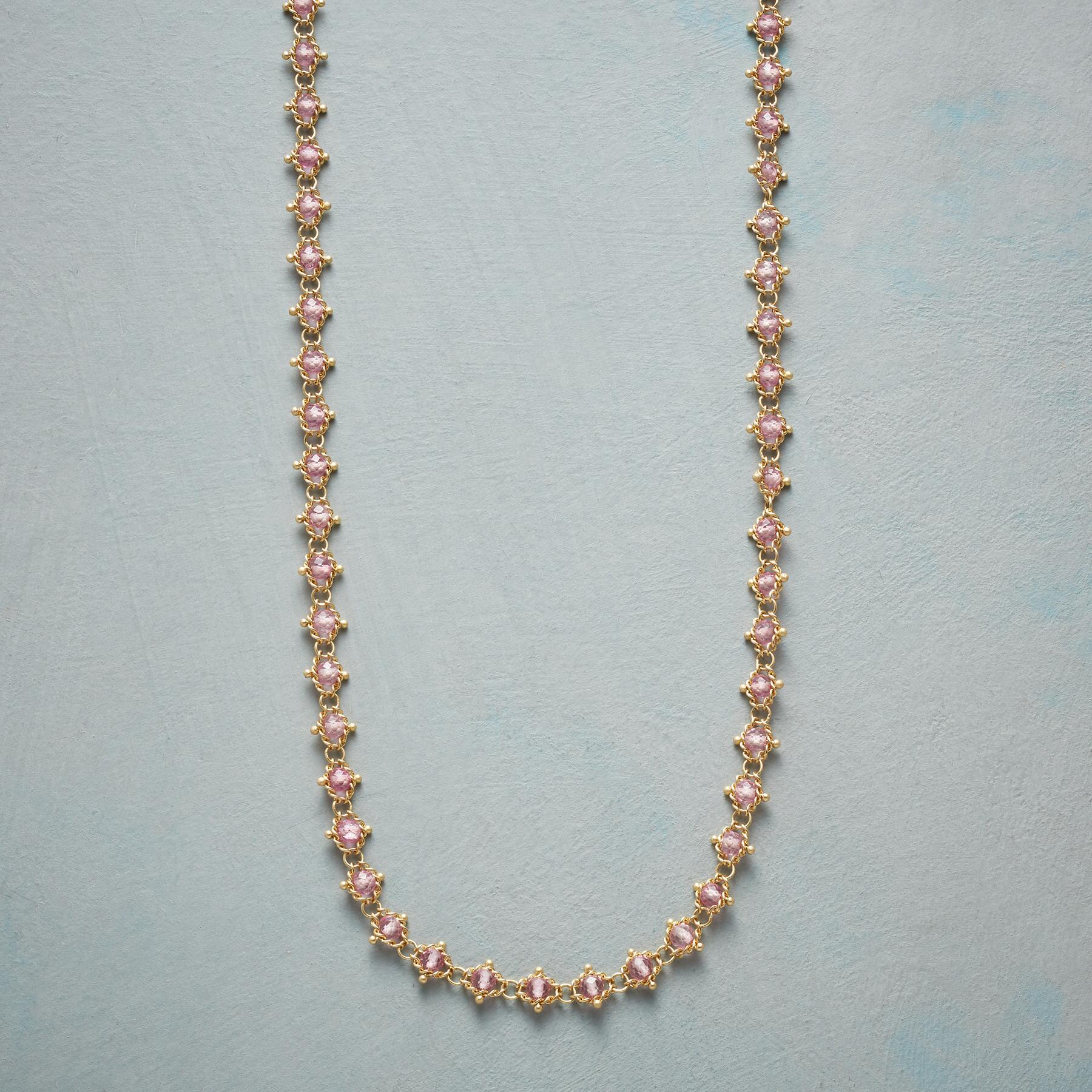 WOVEN PINK TOPAZ NECKLACE: View 1