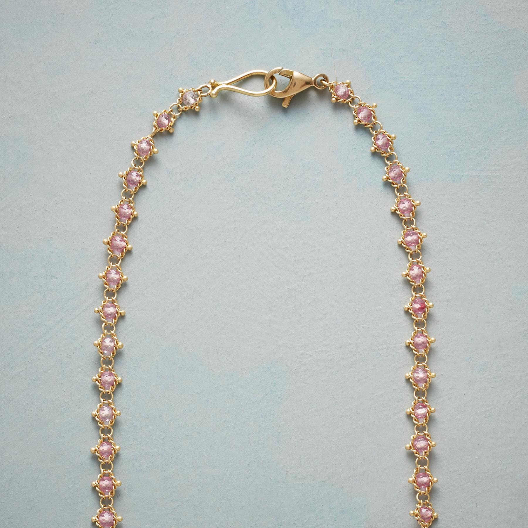 WOVEN PINK TOPAZ NECKLACE: View 3