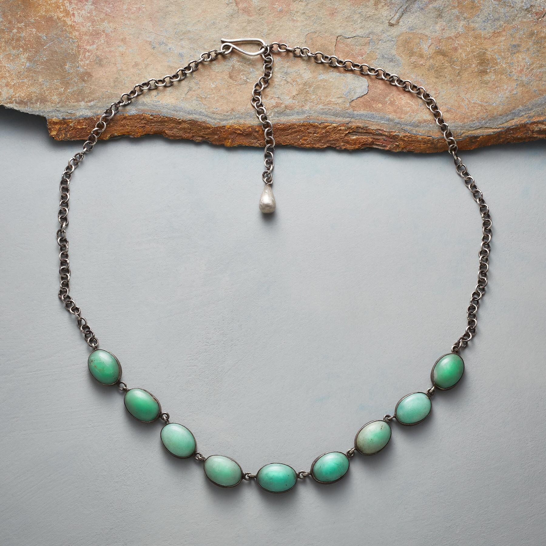 CHRYSOPRASE CABOCHON NECKLACE: View 2