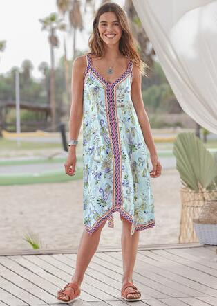 WATERCOLOR BREEZES DRESS
