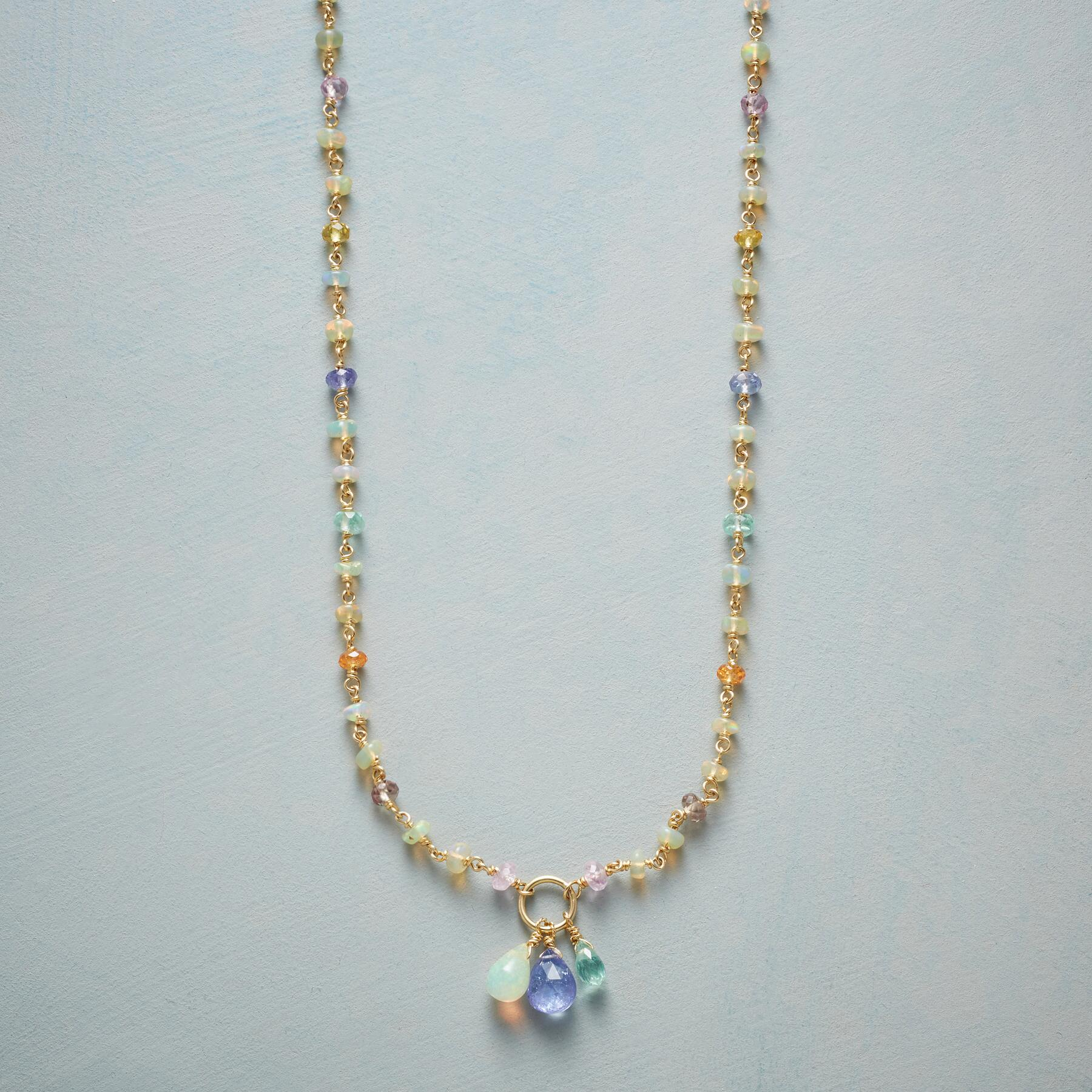 GOLD RAINBOW NECKLACE: View 1