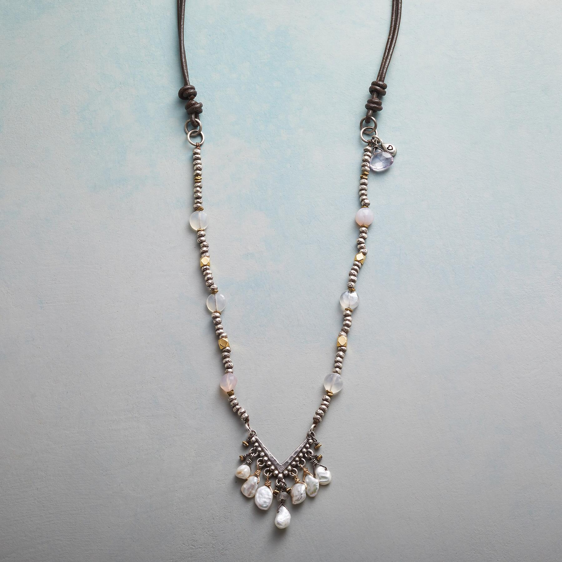 PEARLS IN THE BALANCE NECKLACE: View 1